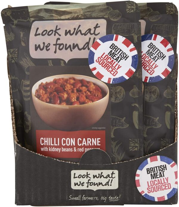 LOOK WHAT WE FOUND Chilli Con Carne Instant Meals, 250g (Pack of 12)