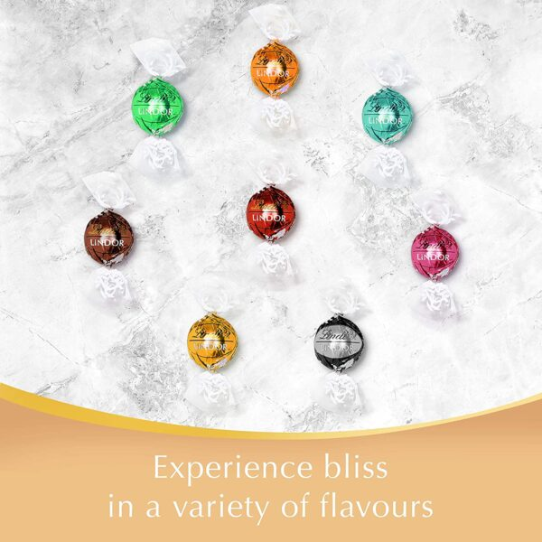 Lindt Lindor Assorted Chocolate Truffles Box - Approx. 26 Balls, 337 g - Perfect for Gifting or Sharing - Assortment of Milk, White, Extra Dark & Hazelnut Chocolate Balls with Smooth Melting Filling