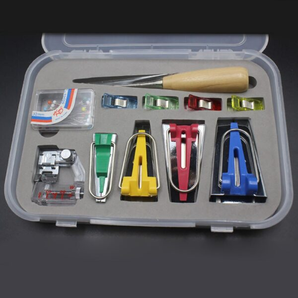 INNE Sewing Accessories Seam Tools Supplies Accessory Seams Instruments Set 4size 6mm 12mm 18mm 25mm Quilting Hemming Tape Maker