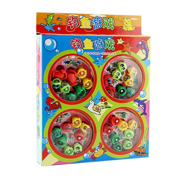 Electric Musical Rotating Fishing Toy Children Play Fish Game Magnetic Fish Outdoor Sports Educational Toys For Boys Girls