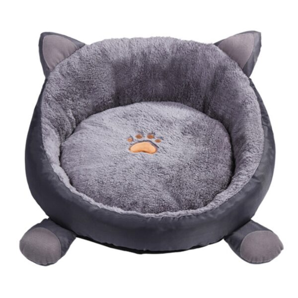 Plush Cat Bed House for Cats Products for Pets Sofa Cama Gatos Cat Accessories Beds for Cats Kitten Mat Dog Bed House Kennel