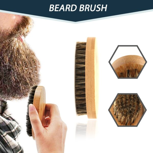 100% Pure Natural Profession Men Beard Care Kit 7Pcs/set Leave-in Conditioner Moisturizing Beard Growth Oil Grooming Health Gift