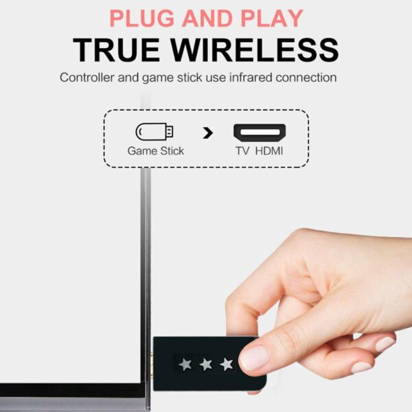 Y2 4K TV Video Game Console Retro Mini Game Player with Handheld Wireless Controller HDMI Output Built-in 568 Classic Games