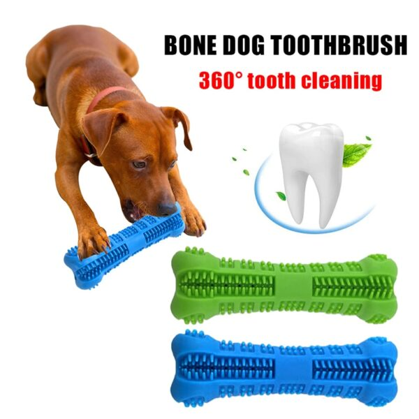 1pcs Magic Pet Dog Toys Bone-shape Toothbrush Funny Interactive Chew Toy Stick Teeth Cleaning Oral Care Dog Toys Pet Supplies