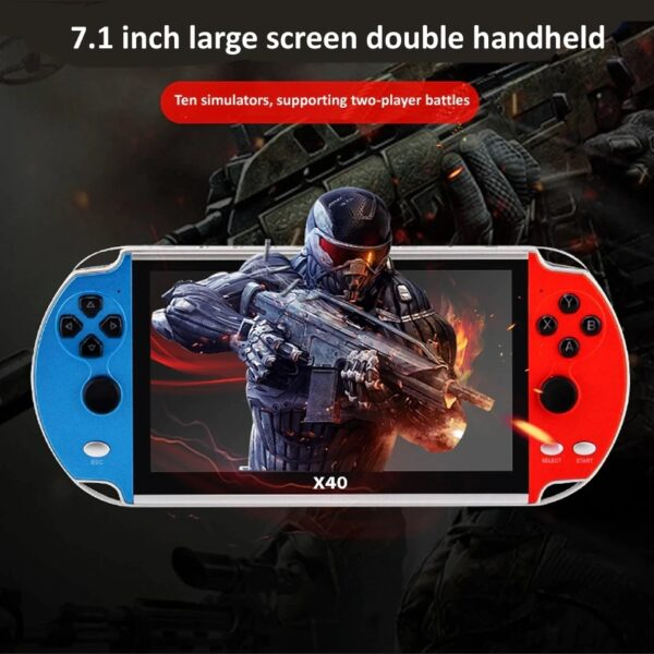 New X40 16GB for PS1 GAME PLAYER Max 7.1Inch Portable multimedia player Double Rocker Gamepad Retro Handheld Video Game Console