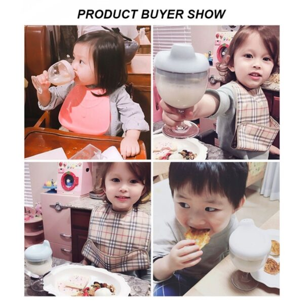 150ML Baby Goblet Water Bottle Infant Cups With Duckbill Mouth Shape For Feeding Baby Training >0M