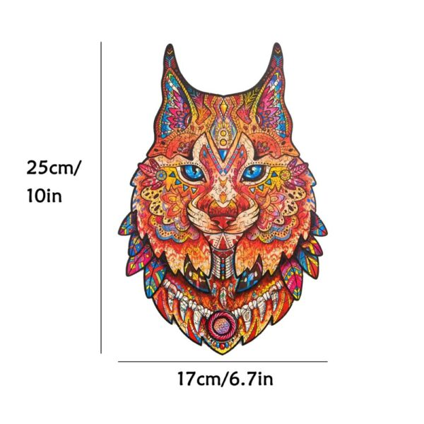 Unique Wooden animal Jigsaw Puzzles Mysterious Owl Puzzle Gift For Adults Kids Educational Puzzle Fabulous Interactive Games Toy