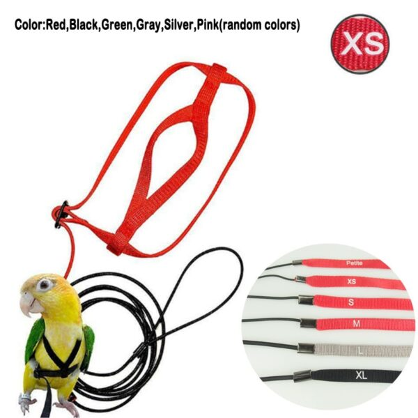 Adjustable Parrots Bird Harness Leash Anti-Bite Training Rope Outdoor Flying Harness Leash