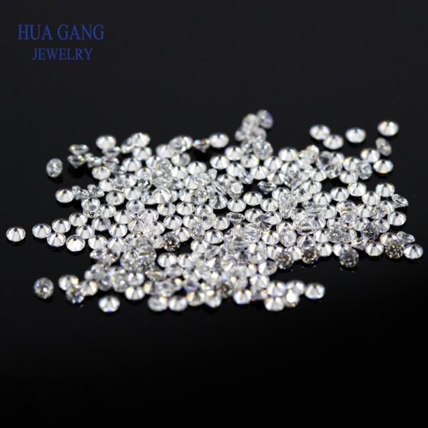 1000PCS AAAAA Grade Round White Cubic Zirconia Stone Loose CZ Stones Brilliant Synthetic Gems Beads For Jewelry Making 0.6~7.5mm