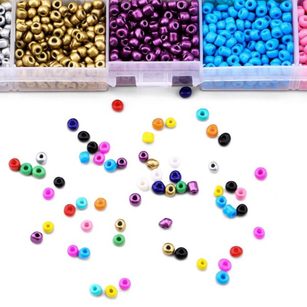 18000pcs 2mm 4mm Czech Glass Seedbeads Charm small Jewelry Crystal Beads DIY For Bracelet Necklace Jewelry Making 15 colors