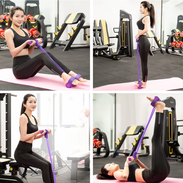 Resistance Bands Weight Loss fitness Equipment 4 tube Tension Trainer Sports Foot Expander Chest Pull Leg Latex Rope Gymnastics