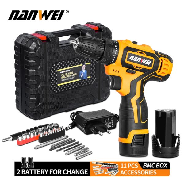 Impact Cordless Screwdriver Cordless Drill Impact Electric Drill Power Tools Hammer Drill Electric Drill Hand