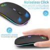 Wireless Mouse Bluetooth RGB Rechargeable Mouse Wireless Computer Silent Mause LED Backlit Ergonomic Gaming Mouse For Laptop PC