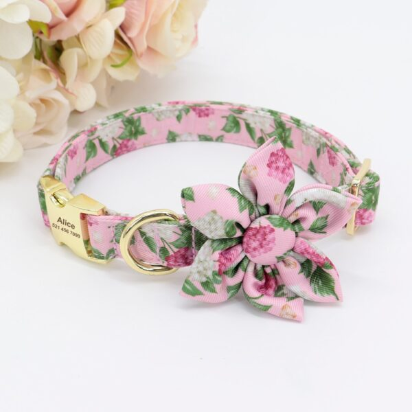 Dog Accessories Pet Puppy Cat Collar Custom Nylon Printed Dog Nameplate Collar Personalized Engraved ID Tag Collars Small Dogs
