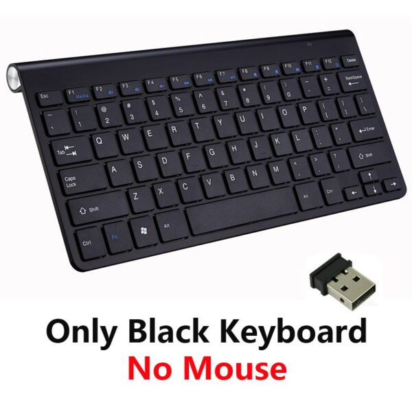 2.4G Wireless Keyboard and Mouse Protable Mini Keyboard Mouse Combo Set For Notebook Laptop Mac Desktop PC Computer Smart TV PS4