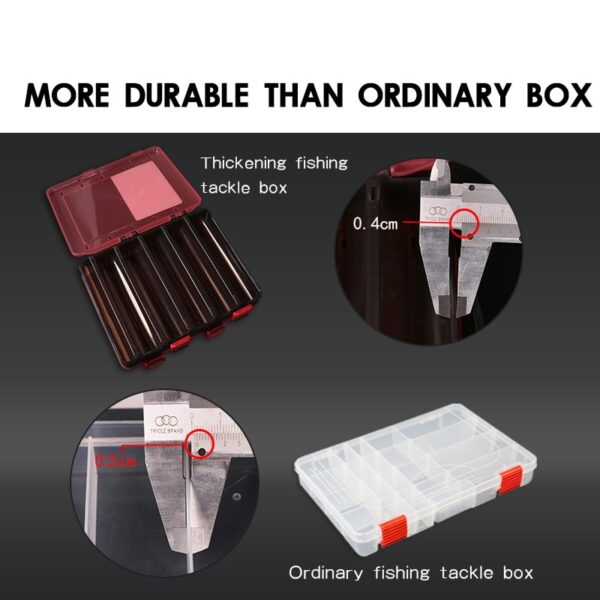 Kingdom 2019 Fishing Lure Tackle Box 1216 Compartments Plastic Fishing Accessories Storage Case Double Sided High Strength Boxs