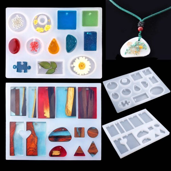 83 Pieces Silicone Casting Molds And Tools Set With A Black Storage Bag For Diy Jewelry Craft Making