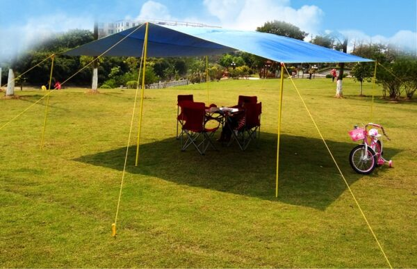 5*4.5m Super Large Size New Design Seams with Tape Coated Tarp/gazebo/sun Shade Tent/awning Original Without Poles