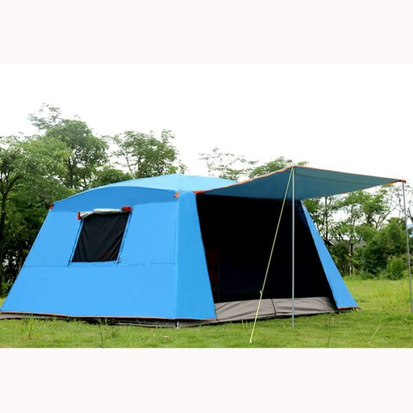 Alltel Ultralarge 5-8 Person Double Layer 365*365*210CM Party Tent Large Gazebo Sun Shelter With Mosquito Net Camping Tent