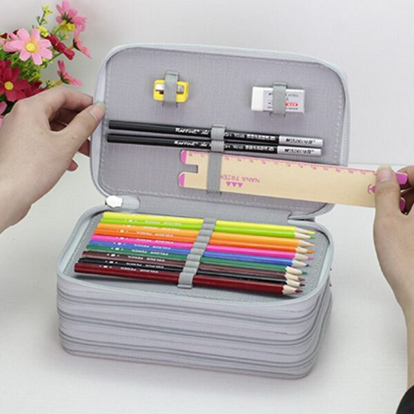 36/48/72 Holes Oxford School Pencil Case Creative Large Capacity Drawing Pen Bag Box Kids Multifunction Stationery Pouch Supply