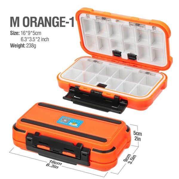 DONQL Fishing Tackle Box Waterproof Double Side Bait Lure Hooks Storage Boxes Carp Fly Fishing Accessories 12-30 Compartments