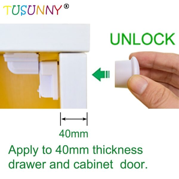 TUSUNNY 8+2/4+1PCS Magnetic lock from children Baby Safety Protection Cabinet Door Lock Drawer Locker Security Invisible Locks