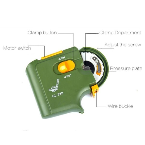Automatic Portable Electric Fishing Hook Tier Machine Fishing Accessories Tie Fast Fishing Hooks Line Tying Device Equipment New
