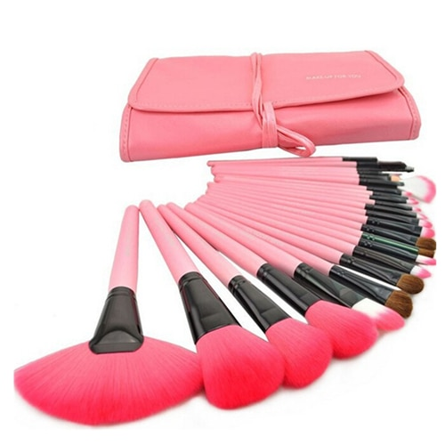 Gift Bag Of 24 pcs Makeup Brush Sets Professional Cosmetics Brushes Eyebrow Powder Foundation Shadows Pinceaux Make Up Tools