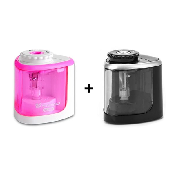 2018 New Automatic pencil sharpener Two-hole Electric Switch Pencil Sharpener stationery Home Office School Supplies