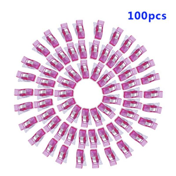 MIUSIE 100pcs High Quality Multicolor Quilt Binding Plastic Sewing Clips Patchwork Sewing Accessory DIY Crafts Clips
