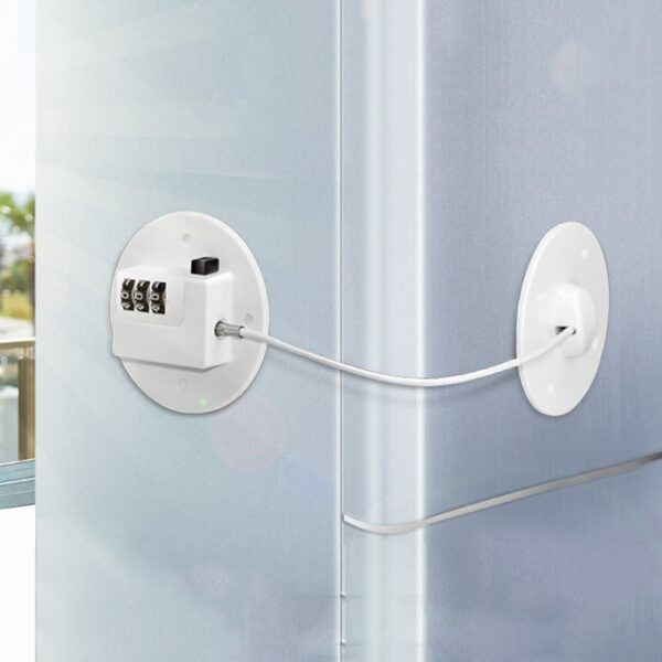 Password Window Lock Baby Safety Easy Install Cabinet Refrigerator Door Non Drilling Freezer Restrictor Self Adhesive Home