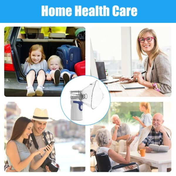 Health Care Inhale Nebulizer Mini Portable Steaming Inhaler For Baby Adult Rechargeable Mesh Atomizer Inalador Nebulizador
