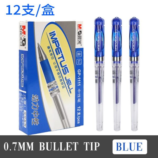 12Pcs Creative Black Blue Ink Refill Gel Pen High Quality Touch Pen Student Exam Pen Writing Tool School Stationery AGP13604