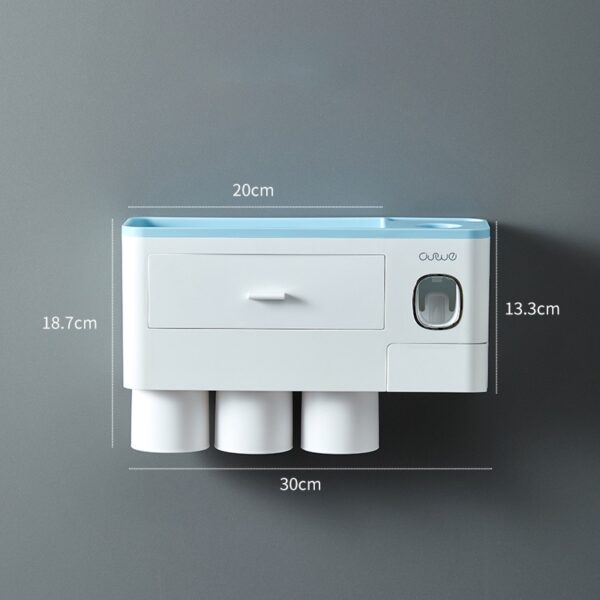 GUNOT Magnetic Adsorption Toothbrush Holder Automatic Toothpaste Squeezer Dispenser Wall Mount Storage Rack Bathroom Accessories