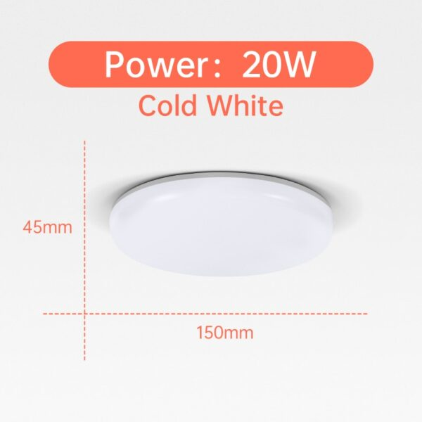 Ultra Thin LED Ceiling Lights 15/20/30/50W Modern Surface Mounted Led Panel Ceiling Lamp for Living Room Lighting Fixture
