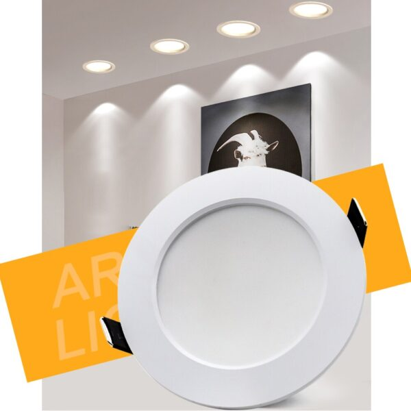 10pcs LED Downlight 7W 9W 12W 15W 18W Round Recessed Lamp AC 220V Down Light Home Decor Bedroom Kitchen Indoor Spot Lighting