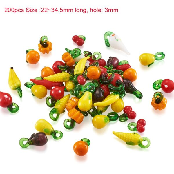 pandahall Mixed Color Handmade Lampwork Glass Beads for jewelry making DIY Crafts Charm Bracelets Accessories Wholesale